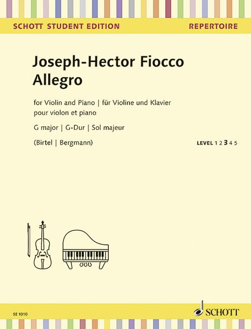 Fiocco Joseph Hector: Allegro G-Dur