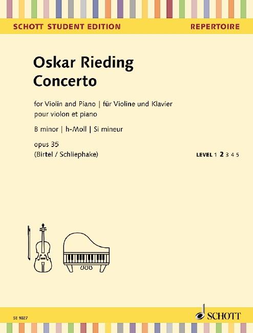 Rieding, Oskar: Concertino h-moll op 35