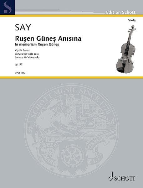 Say Fazil: Rusen Günes Anisina op.92
