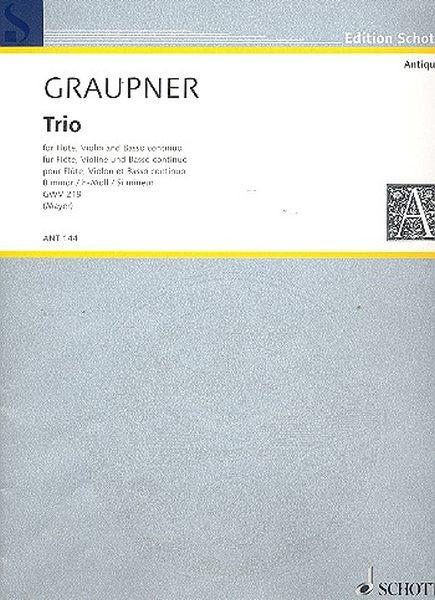 Graupner, Johann Christoph: Trio h-Moll  GWV 219