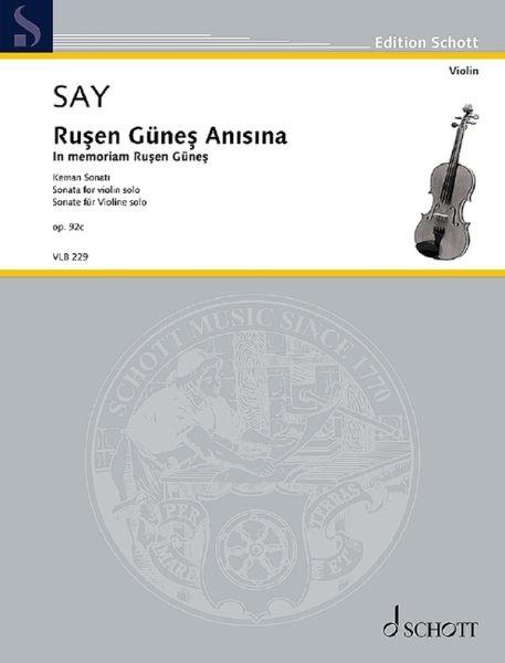 Say Fazil: Sonata op 92c