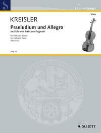 Kreisler, Fritz (1875-1962): Praeludium und Allegro