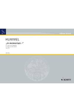Hummel Bertold: IN MEMORIAM OP 74