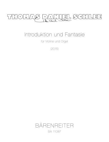 Schlee Thomas Daniel: Introduktion + Fantasie