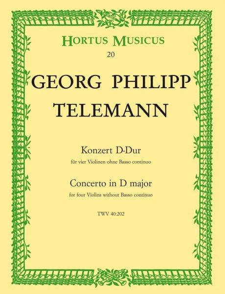 Telemann, Georg Michael (1748-1831): Konzert für vier Violinen ohne Basso continuo