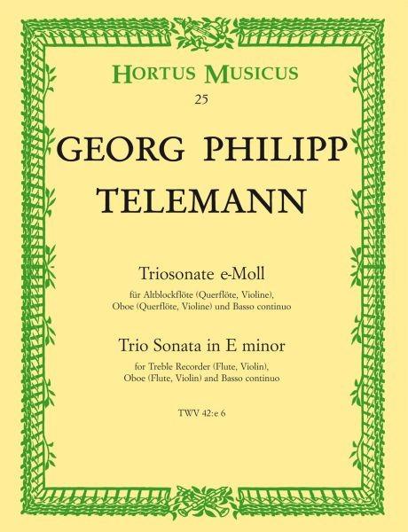 Telemann Georg Philipp: TRIOSONATE E-MOLL