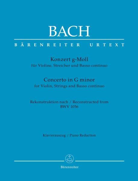 Bach Johann Sebastian: Konzert für Violine, Streicher und Basso continuo g-Moll