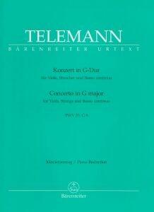Telemann, Georg Philipp: Konzert in G-Dur  für Viola, Streicher und B.c.