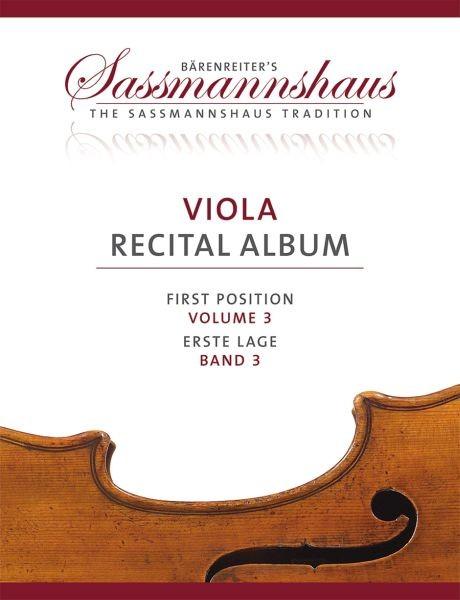 Sassmannshaus, Kurt (Hrsg.): Viola Recital Album, Band 3