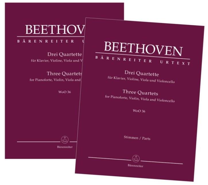 Beethoven, Ludwig van: Drei Quartette für Klavier, Violine, Viola und Violoncello WoO 36