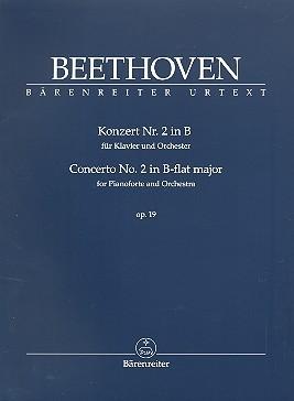Beethoven, Ludwig van  [Hrsg:] Del Mar, Jonat: Konzert für Klavier und Orchester Nr. 2 B-Dur op. 19