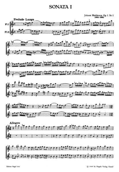 Mattheson, Johann: Vier Sonaten