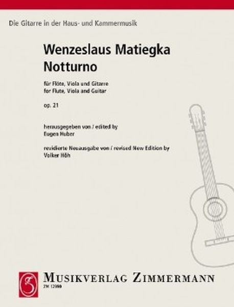 Matiegka, Wenzeslav: Notturno für Flöte, Viola und Gitarre