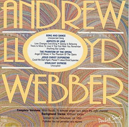 Andrew Lloyd Webber: Best Of -You Sing the Hits CD