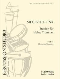Fink, Siegfried: Studien für kleine Trommel