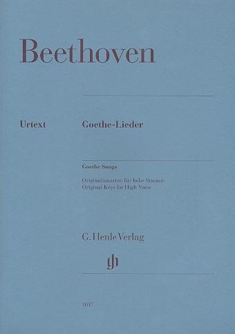 Beethoven, Ludwig van: Goethe-Lieder