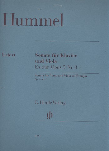 Hummel, Johann Nepomuk: Sonata for Piano and Viola in E flat major op. 5 no. 3
