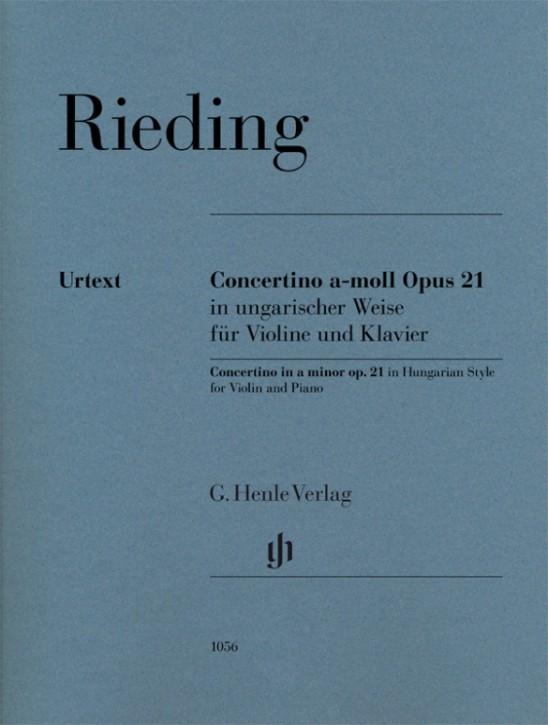 Rieding Oskar: Concertino a-moll op 21 im ungarischen Stil