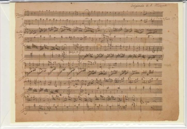 Faksimilepostkarte: Mozart - Ah vous dirai je Maman KV 265 (300e)