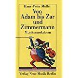 Müller, Hans - Peter: Von Adam Bis Zar Und Zimmermann