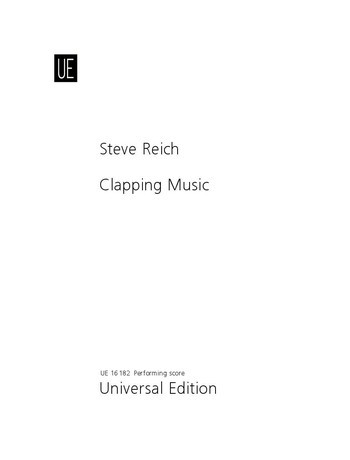 Reich, Steve: Clapping Music