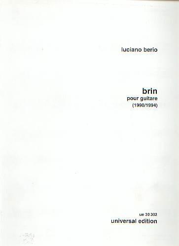 Berio, Luciano / Charles, Bruce: Brin