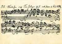 Postkarte: Notenpostkarten Bach - Fantasia