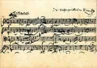 Postkarte: Notenpostkarten Mozart - Streichquartett