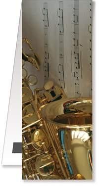 .: Lesezeichen Saxophon/Notenblatt magnetisch