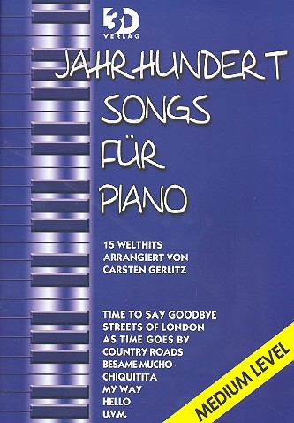 Gerlitz Carsten: Jahrhundertsongs medium level 1