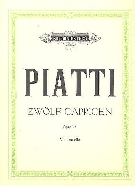 Piatti, Alfred: 12 Capricen op. 25
