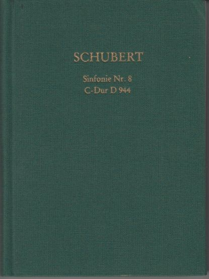 Schubert, Franz: Sinfonie Nr. 8 - Studienpartitur