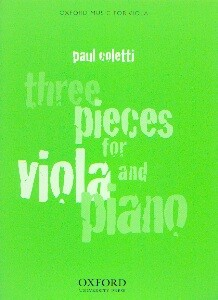 Coletti, Paul: Three Pieces for Viola and Piano