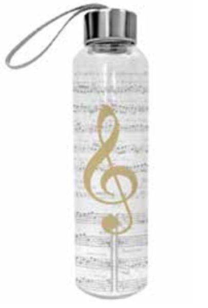 .: Glasflasche Violinschlüssel