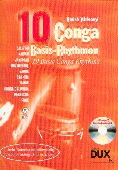 Várkonyi, André: 10 Conga Basis Rhythmen - mit CD