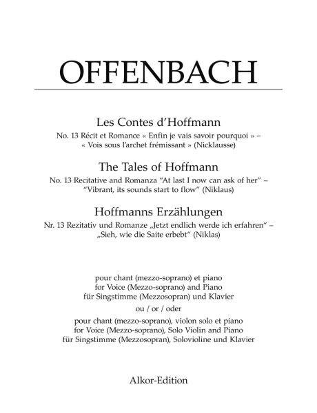 Offenbach Jacques: Rezitativ + Romanze