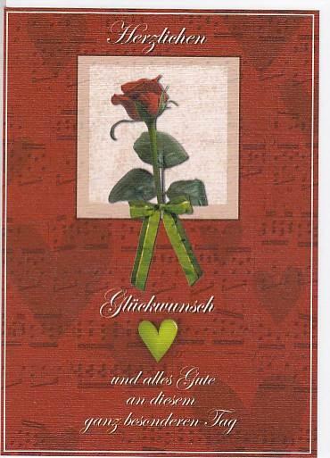 Doppelkarte: Glückwunsch Rose