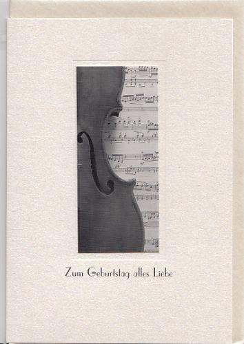 Kunst-Postkarte: Zum Geburtstag alles Liebe