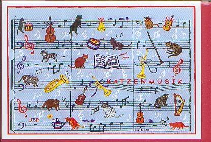 Kunst-Postkarte: Rossini Katzenmusik