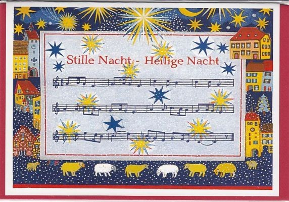 Kunst-Postkarte: Stille Nacht - Heilige Nacht