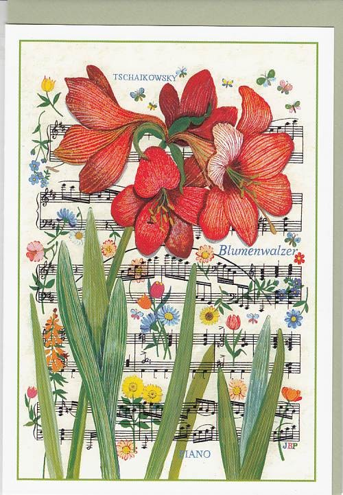 Kunst-Postkarte: Blumenwalzer