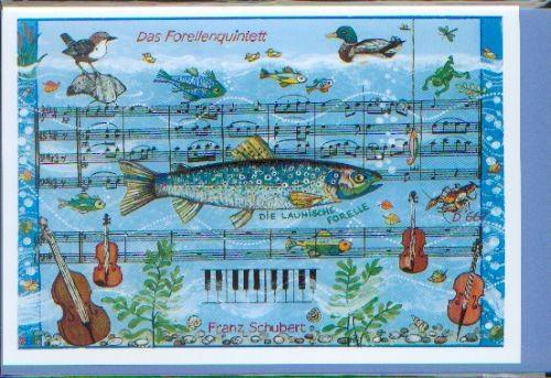 Doppelkarte: Das Forellenquintett