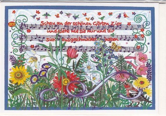 Kunst-Postkarte: Schau an der schönen Gärten Zier