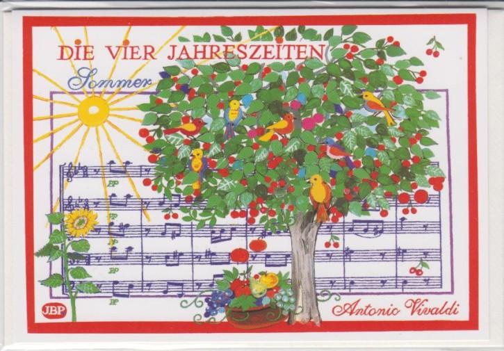 Doppelkarte: Vivaldi - Sommer (Die vier Jahreszeiten)