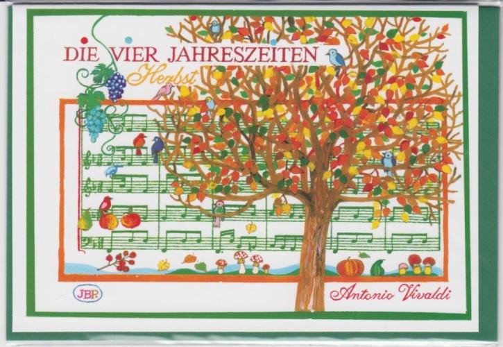 Doppelkarte: Vivaldi - Herbst (die Vier Jahreszeiten)