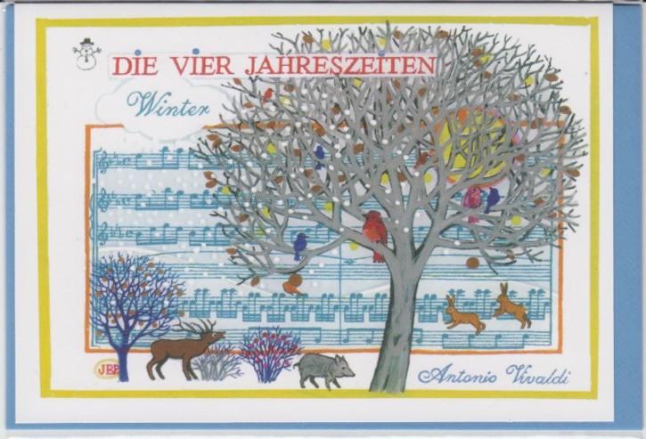 Doppelkarte: Vivaldi - Winter (Die vier Jahreszeiten)