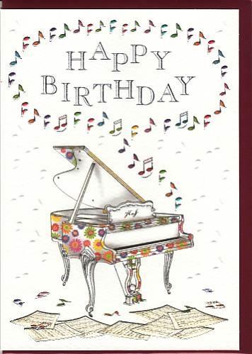 Doppelkarte: Happy Birthday