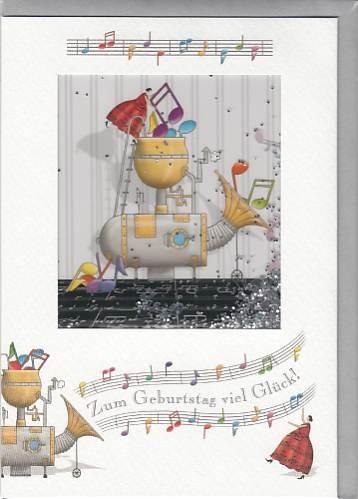Doppelkarte: Zum Geburtstag viel Glück