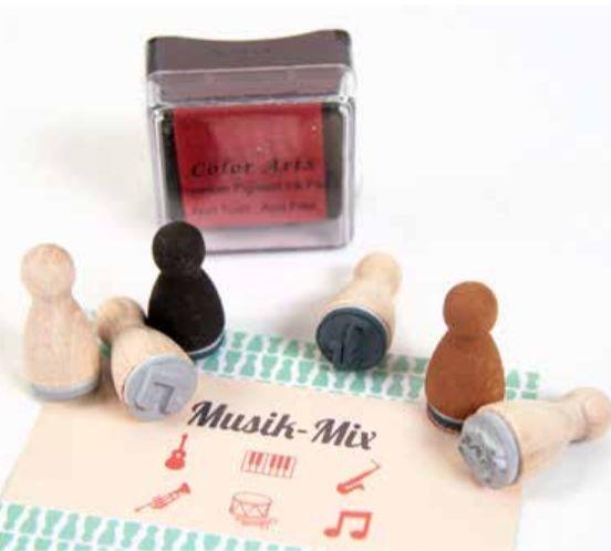 Mini-Stempelset: Musik-Mix