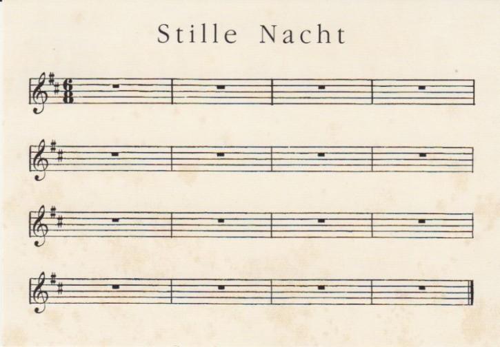 Postkarte: Stille Nacht